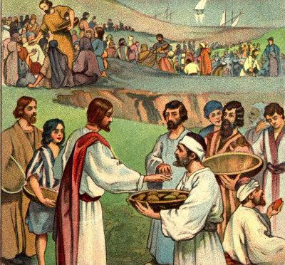 Jeasus-feeds-multitude-of-people